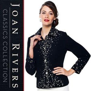 {Joan Rivers} New Pearl Embellished Jacket